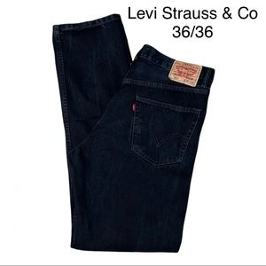 Levi Strauss & Co 505 Black Relaxed Fit Jeans Size 36/36
